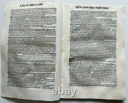 1498 LARGE FRAGMENT of 18 LEAVES COMMENTARIA IN BIBLIAM, ORIGINAL Incunabula