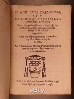 1578 EXORCISMS Demonology Occult Demon Possession Menghi Flagellum Daemonum