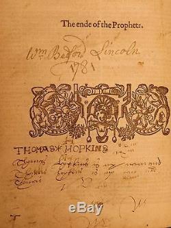 1597 Geneva BIBLE Old & New Testament Apocrypha Grashop Bible Chart Puritans