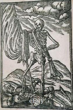 1634 RARE 1ST-ED LEARN TO LIVE & DIE+WOODCUTS Antique King James Bible 1611