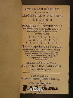 1667 1ed Kircher on Magnetism Magnet Occult Science Physics Phenomena Magneticum