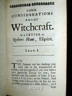 1668 Witchcraft Glanvill Occult Devil Satan Magic Ghost Demon Bible Sorcery Sex