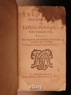 1708 1ed Hermetic Alchemy Philosophers Stone Occult Triumph Philosophy Limojon