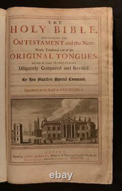 1716-1717 2vol The Holy Bible John Baskett Vinegar Bible George III Binding