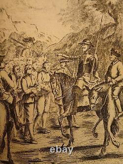 1754 Don Quixote Spanish Miguel Cervantes Chivalry 6v SET de Saint-Martin ART