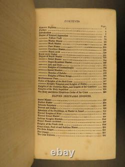 1835 1ed Ritual Freemasonry SECRETS William Morgan Murder Masonic Allyn