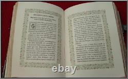 (1860) SILVER Clasps CHROMOLITHOGRAPHS GAUFFERED Missal Bible Antique Gift