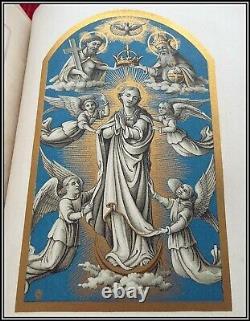 (1892) SCARCE 320 CHROMOLITHOGRAPHS Roman Missal ILLUSTRATED Christian Bible