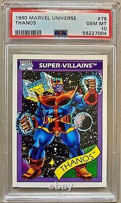 1990 Impel Marvel Universe Super Villains Thanos #79 PSA 10 GEM MINT MCU