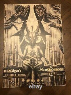 1st Edition 1977 H. R. Giger Necronomicon Dali Edition