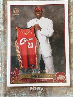 2003-04 TOPPS 1ST EDITION #221 LeBron James Rookie RC