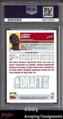 2003-04 Topps 1st Edition #221 LeBron James RC PSA 10 GEM MINT Rookie CAVALIERS