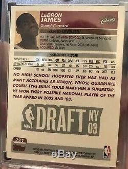 2003-04 Topps Lebron James Rookie 1st First Edition SP RC Non Auto RARE! PSA10