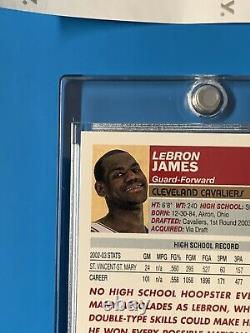 2003-04 Topps Lebron James Rookie 1st First Edition SP RC. RARE! HOT