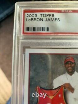 2003-04 Topps PSA 9 MINT Lebron James Rookie RC #221