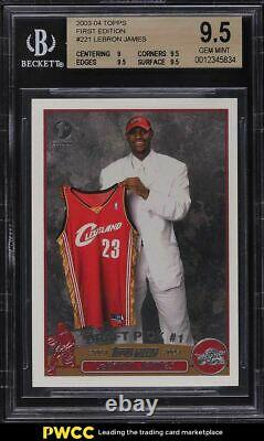 2003 Topps First Edition Lebron James ROOKIE RC #221 BGS 9.5 GEM MINT