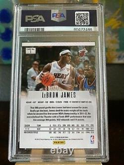 2012-13 Panini Prizm LeBron James #1 PSA 8 NM-MT First Year Prizm Heat Lakers