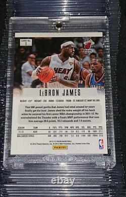 2012-13 Panini Prizm Lebron James Silver Prizms #1 Heat PSA 9 Mint Holy Grail