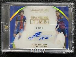 2018-19 Immaculate Soccer LIONEL MESSI Spanning Time Gold #8/10 Auto Barcelona