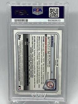 2020 1st Bowman Chrome Jasson Dominguez On Card Refractor Auto /499 PSA 8 Auto 9