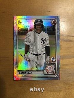 2020 Bowman 1st Edition Sky Blue Parallel JASSON DOMINGUEZ BFE-8 Yankees