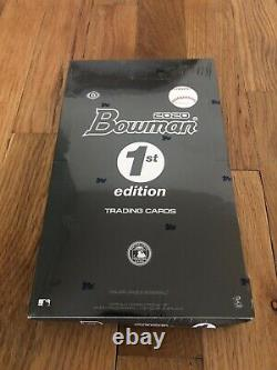 2020 Bowman baseball 1st edition cards factory sealed hobby box (24 packs)
