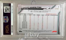 2020 Topps Chrome F1 Sapphire Lewis Hamilton Aqua #/99 #1 Mercedes PSA 9