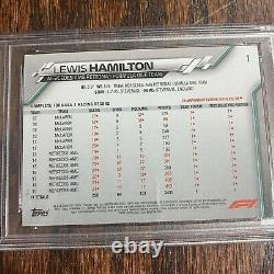 2020 Topps Chrome Sapphire Edition F1 Lewis Hamilton #1 SP Image Variation PSA 9