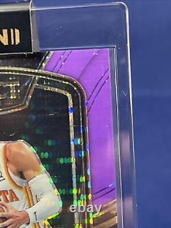 20-21 Panini Select Basketball Trae Young /15 Fotl Purple Pulsar Auto