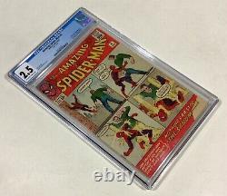 Amazing Spider-Man #4 CGC 2.5 KEY! (1st Sandman & Origin!) 1963 Marvel Comics