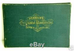 BECKER'S ORNAMENTAL PENMANSHIP Vintage COLLECTOR'S ORIGINAL