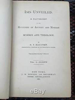 Blavatsky, ISIS UNVEILED. All original first edition