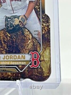 Blaze Jordan Gold Die Cut #d/49 Boston Red Sox 2021 Bowman 1st Edition Rookie