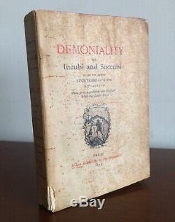 Demoniality Incubi Succubi Sinistrari 1st 1879 Witchcraft Demonology Rare Occult