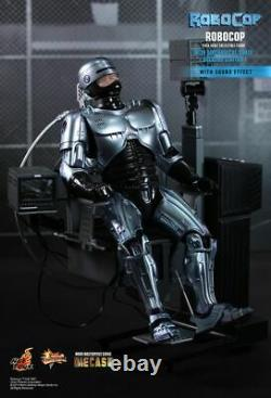Dhl 1/6 Hot Toys Mms203d05 Robocop With Mechanical Chair Docking Station Figure