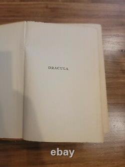 Dracula by Bram Stoker 1897 First US Edition Publisher NY Grosset & Dunlap