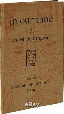 Ernest HEMINGWAY / in our time First Edition 1924