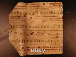 Handwritten Merchant Trader Manuscript in Medieval Illuminated Vellum BINDING