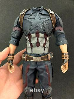 Hot Toys HT MMS480 1/6 Captain America Action Figure Body 6.0 Outfits 12in. New