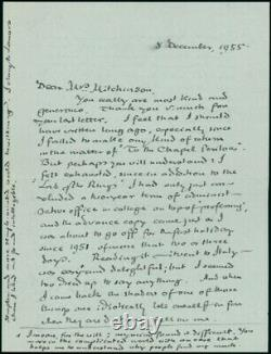 J. R. R. Tolkien Autograph Letter Signed to his Proofreader re Lord of the Rings