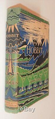 J. R. R. Tolkien, The Hobbit 1st Edition, 2nd Imp, Original Unrestored Jacket