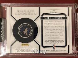Jaden McDaniels 2020-21 National Treasures Rookie Logoman /5 TIMBERWOLVES