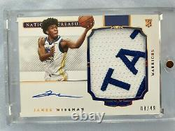 James Wiseman 2020-21 National Treasures RC Rookie Patch Auto RPA /49 Best Patch