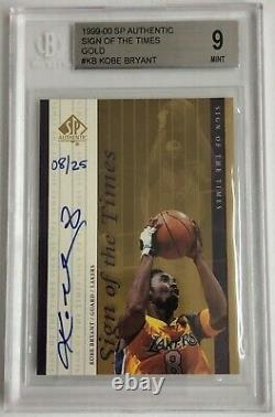 KOBE BRYANT 99-00 SP Sign of the Times Gold Auto # 8 / 25 BGS 9 All Time Auto