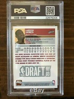 Lebron James Topps 1st Edition Rookie 221 PSA 10 RC Nicely Centered Low Pop