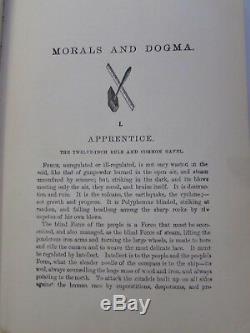 MORALS DOGMA FREEMASONRY 1871 1st Ed Masonic OCCULT Freemason ANTIQUE BOOK