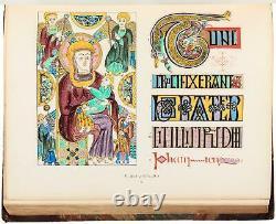 Medieval Illuminated Lithograph Church Bible Manuscript Codex Color Book Ancient