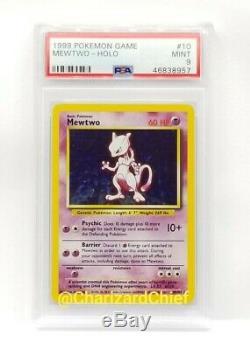 Mint Mewtwo Holo Original Base Set Collection 10/102 Psa 1999 Classic Pokemon