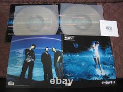 Muse Showbiz UK Original Limited Numbered Double Clear Vinyl LP Set