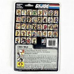 New 1985 GI Joe Figure Cobra Ninja Storm Shadow NOS On Card Extremely Rare